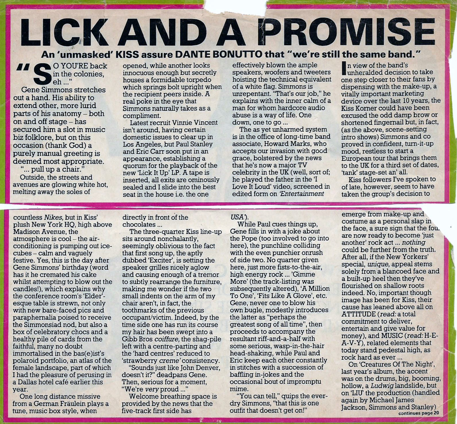 That can lick and a promise font really